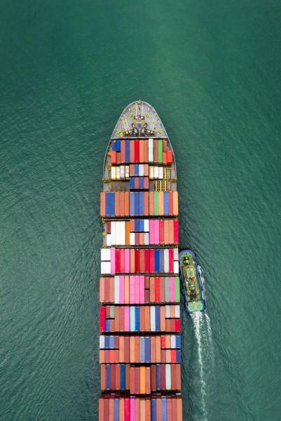 Cargo ship with marine cargo insurance